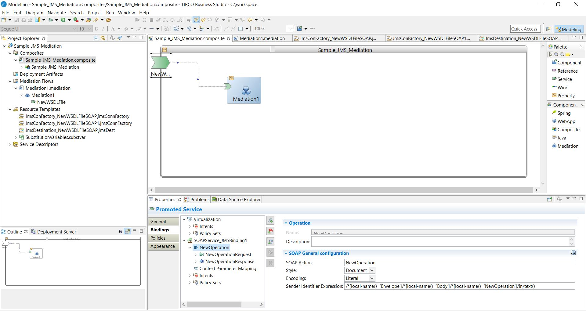 Configuring the Sender Identifier Expression from TIBCO ActiveMatrix ...