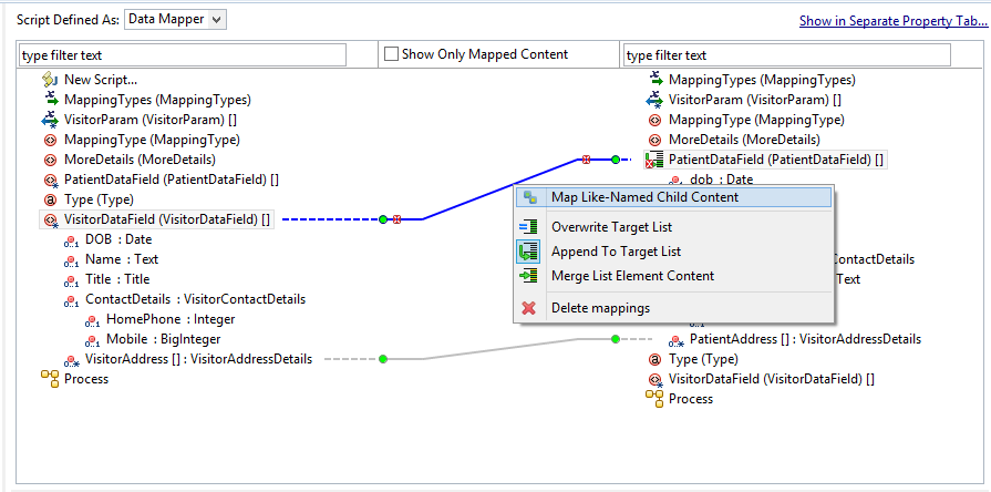 Mapping Contents In Data Mapper - Data mapping definition