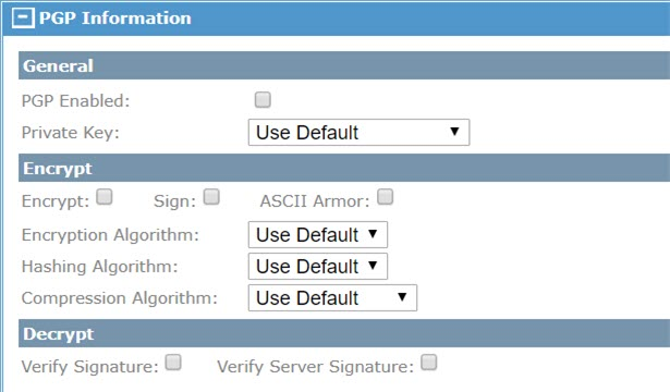 Adding a Server with PGP Encrypt and Decrypt Support