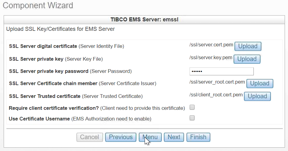 Upload Ems Ssl Certification