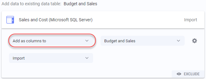 Adding columns to a data table